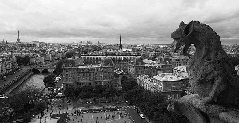 Paris from roof of Notre Dame