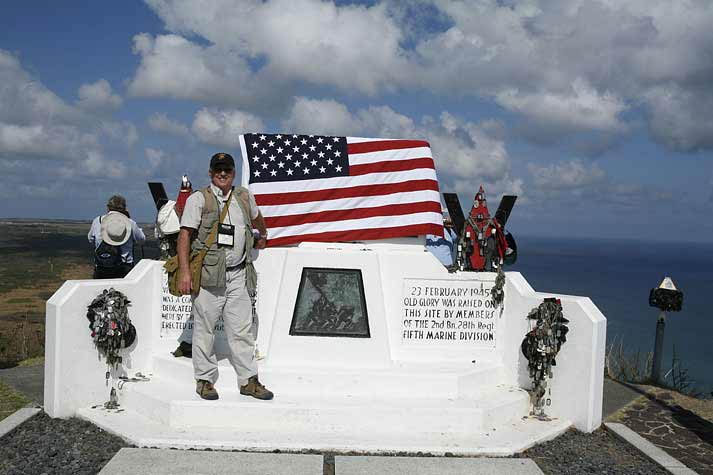 Marine Corps memorial on summit of Mt. Suribachi, Iwo Jima
