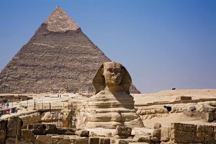 Pyramid & Sphinx at Giza, Egypt