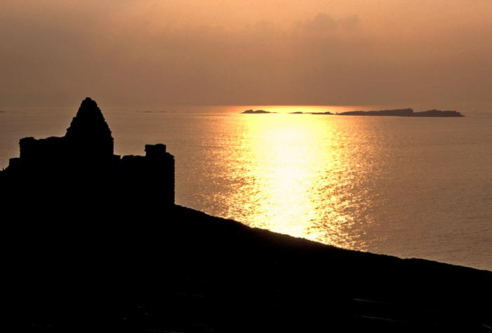 Sunset on Irish Castle