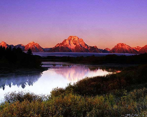 First Light on Oxbow Bend, Grand Tetons Nat. Pk.