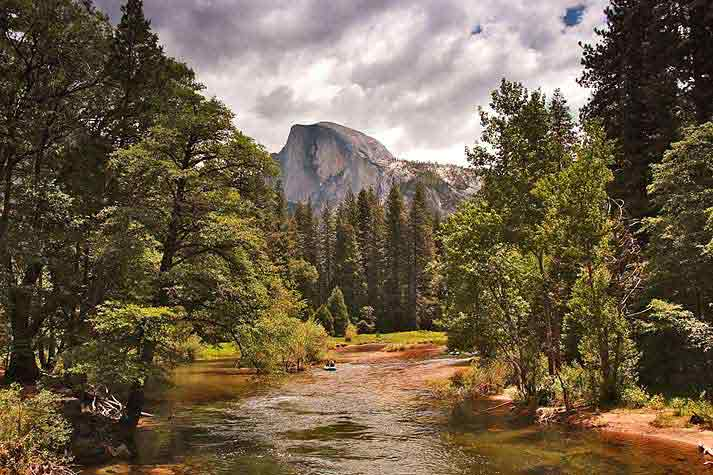 Rafting on Merced River, Yosemite National Park