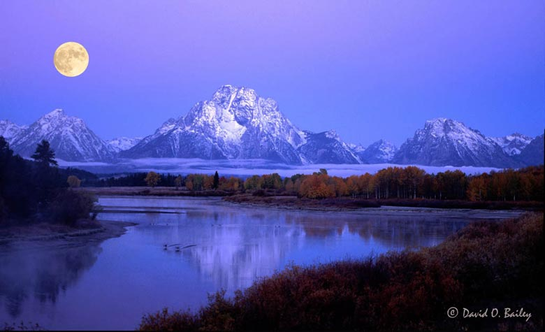 Pre-Dawn light on Grand Tetons
