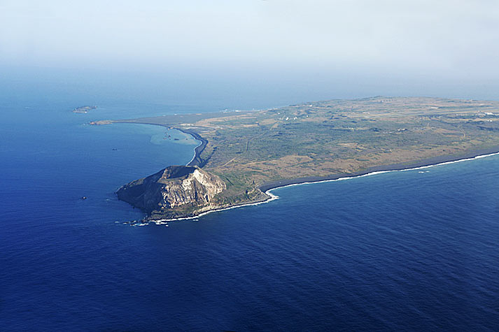 Aerial view of Mt Suribachi