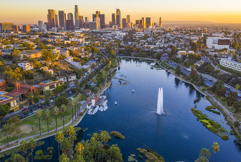 Echo Park Lake - Los Angeles, CA.