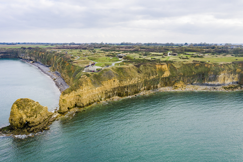 WWII D-Day battlefield Pointe du Hoc