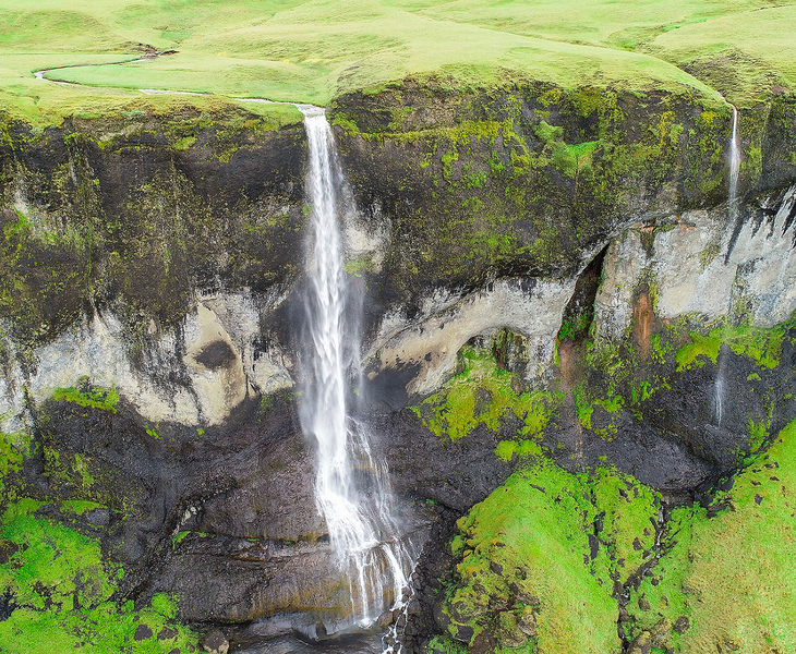 Waterfalls along the south coast of Iceland