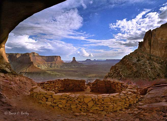 Kiva in Cave, Canyonlands National Park, Moab